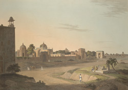 View at Delhi near the Mausoleum of Humaioon